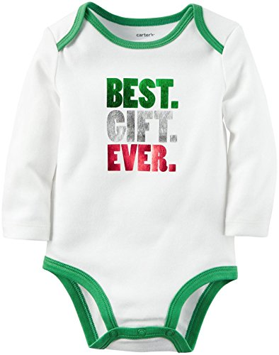 Carter's Unisex Baby Best Gift Ever Bodysuit, White, Newborn