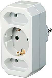 Brennenstuhl Adapterstecker Euro 2 + Schutzkontakt 1 weiß, 1508050