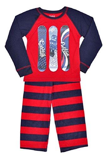boys-oshkosh-pyjamas-navy-red-skateboard-print-top-fleece-bottoms
