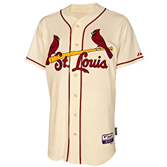 St Louis Cardinals Alternate Ivory Authentic Cool Base Jersey by Majestic by Majestic