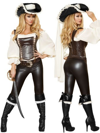 Seductive Pirate Wench Costume - LARGE