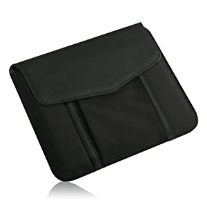 Verizon Leather/ Nylon Tablet Sleeve With Modem Pocket and Form Fitting Construction for All 10.1 inch Tablets(888-0001)