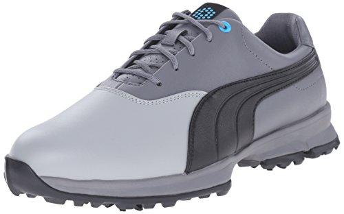 PUMA Men's Ace Golf Shoe, Limestone Gray/Black, 12 M US