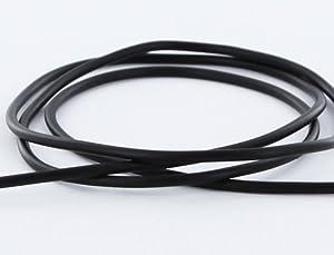 AURORIS - 5m Kautschukband rund - Ø 3mm - schwarz