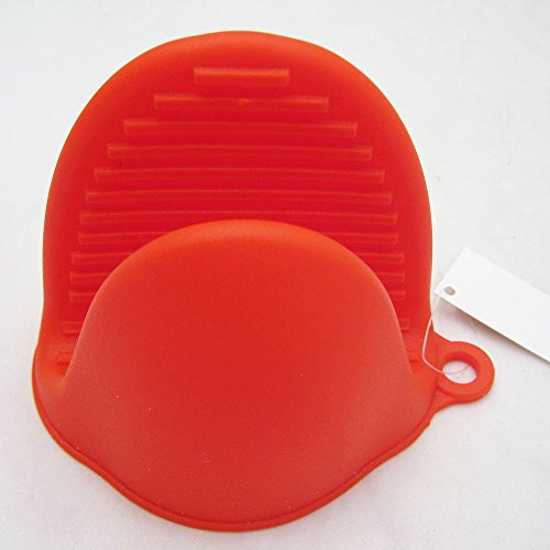 Silicone Oven Mitts Pot Holder - Heat Resistant - Color: Red