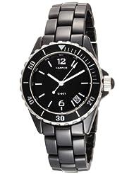 K&BROS Women's 9144-1 C-901 Full Ceramic Black Watch