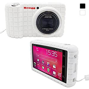 Snugg Galaxy Smart Camera Silicone Case in White - Non-Slip Material, Protective and Soft to Touch for Samsung Galaxy Smart Camera WiFi 3G