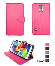 Bear Motion For Galaxy S5 - Premium Folio Case for Samsung Galaxy S5 (Hot Pink)