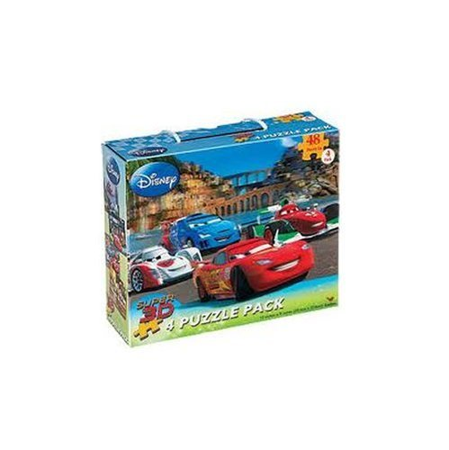 Disney Cars and Toy Story Super 3D Puzzle Pack, 4 Puzzles, 48 Pieces Each - 1