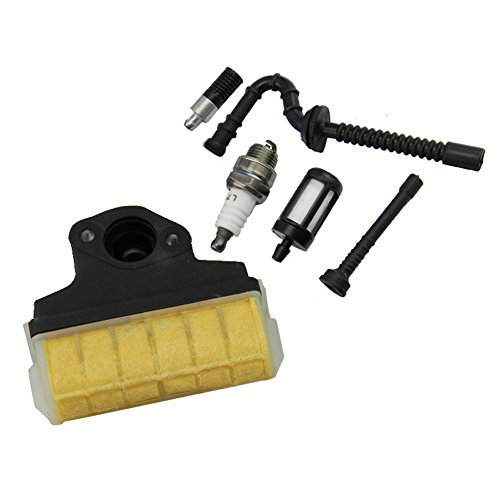HIPA Air Filter + Spark Plug + Fuel / Oil Line Filter for STIHL 021 023 025 MS210 MS230 MS250 Chainsaw (Stihl Ms250 Gas Line compare prices)