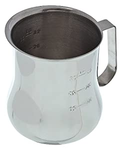 Update International EPB-40M Stainless Steel Frothing Pitcher with Measuring Scale, 40-Ounce from Update International