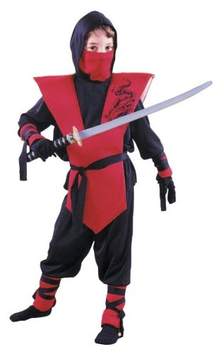 Ninja Complete Child Costume Size Large Red