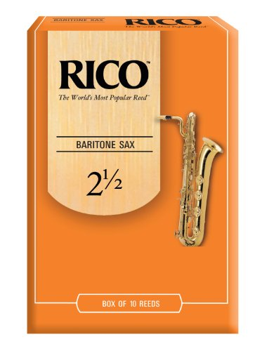 Rico Baritone Sax Reeds, Strength 2.5, 10-pack