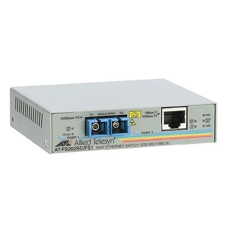 Allied Telesis AT FS202 Convertisseur de support 10Base-T, 100Base-FX, 100Base-TX RJ-45 / SC multi-mode externe jusqu'à 2 km