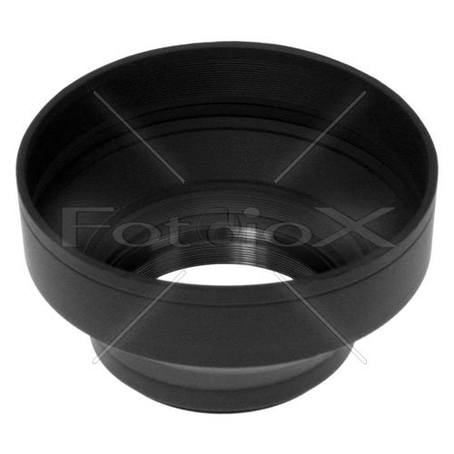 Fotodiox 3-Section Rubber Lens Hood, Sun Shade , 58mm