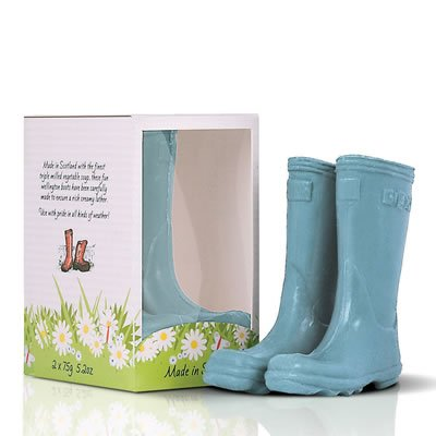 Scottish Fine Soaps Novelty Soaps Welly Boots - Blue