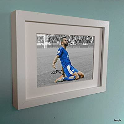 White Signed Riyad Mahrez Leicester City Autographed Photo Photograph Picture Frame 2