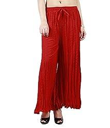 Haniya Womens Palazzo (PSXCSRD_Red _Free Size)