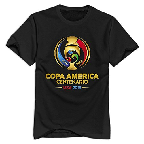 Copa America Centenario 2016 O-Neck T Shirt For Man's Black XXL Summer Style T Shirt (Cup O Joe compare prices)