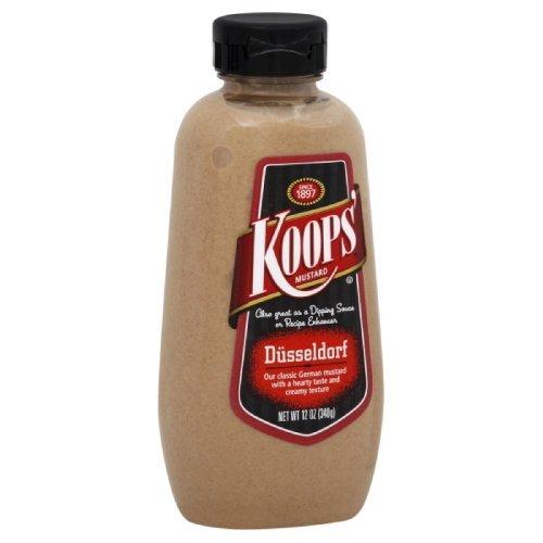 Koops Mustard Dusseldorf Squeeze, 12-Ounce