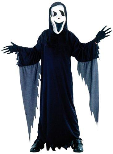 86797 - Kinderkostüm Horror Halloween Dämon mit Scream Maske, 7 - 9 Jahre