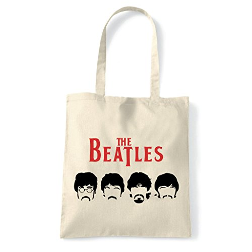 Art T-shirt, Borsa Shoulder Beatles Mustache, Natural