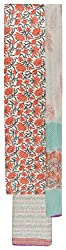 Sanskriti Women's Cotton Unstitched Dress Material (Orange and White)