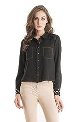 Kazo Women's Body Blouse Shirt (109142BLACKxs)