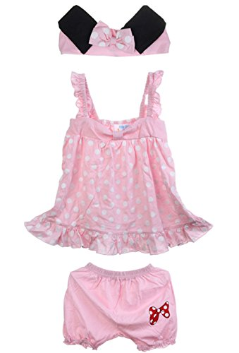 ANDI ROSE Baby Toddlers Cute Soft Cotton Lovely Dress+Panties+Hairband Outfit