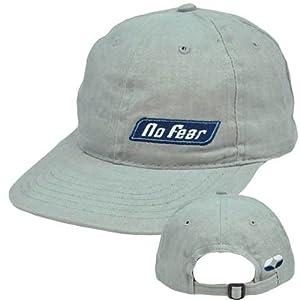 Buy No Fear Sports Gear Skateboard Vintage Hat Cap Flat Bill Adjustable Relaxed Fit by No Fear