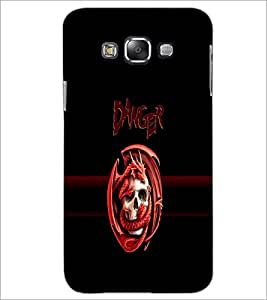 PrintDhaba Danger D-4262 Back Case Cover for SAMSUNG GALAXY A8 (Multi-Coloured)