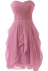 Dress U Womens Ruched Bridesmaid Dress Short Prom Dresses