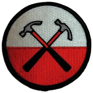 "PINK FLOYD Hammers Martelli Patch toppa,Officially Licensed Artwork, Iron-On / Sew-On, 3"" x 3"" Embroidered ricamato PATCH"