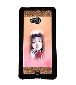 PrintVisa Metal Printed Girly Designer Back Case Cover for Microsoft Lumia 540 Dual Sim-D4847