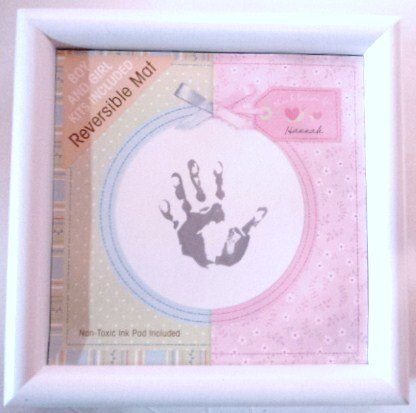 Carters Shadowbox Handprint Kit (For Girl or Boy) Non-Toxic