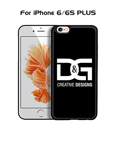D&G IPhone 6 Plus Custodia Case, Brand Logo Protection Unique Pattern Rugged Drop Resistant Hard Plastic Vintage Fit for IPhone 6 6s Plus (5.5 inch)