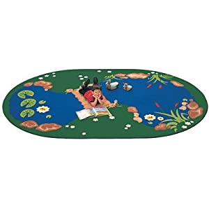 "Printed The Pond Kids Rug Size: Oval 4'5"" x 5'10"" from Carpets for Kids"