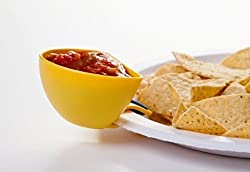 Dip Clips Plate Clips, Sauce Clips, Dipping Clips, Condiment Clips Unique Serving Item Pack of 4 (Colour May Vary)