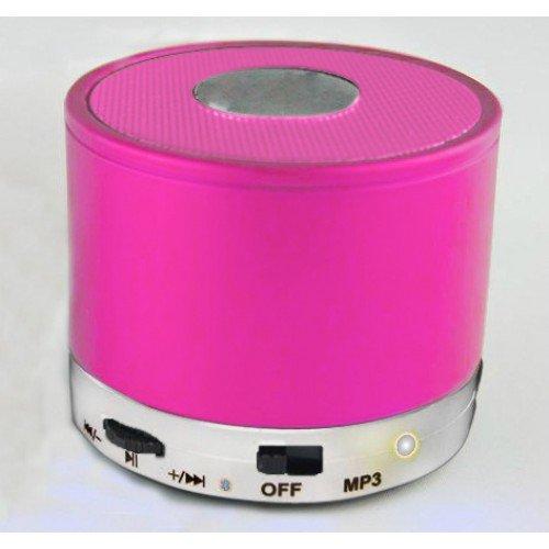 Best Shopper - Mini Bluetooth Wireless Mp3 Portable Hands-Free Speaker - Hot Pink