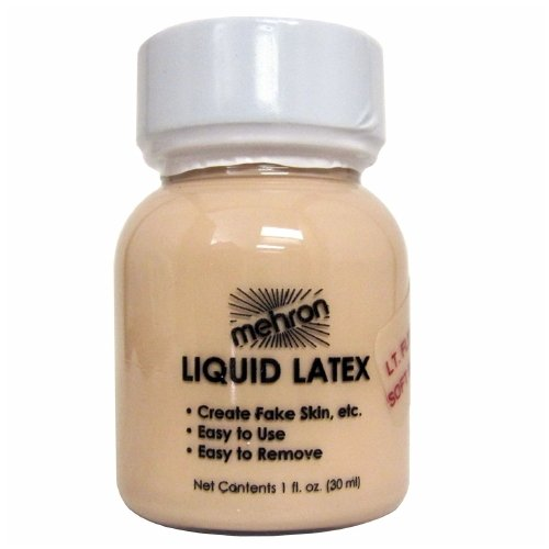mehron Latex Liquid 1 oz - Light Flesh with Brush