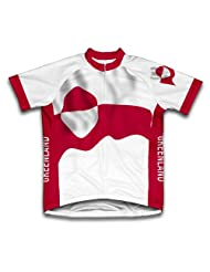 Greenland Flag Short Sleeve Cycling Jersey for Women