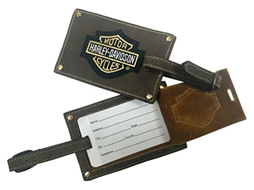 harley-davidson-bar-shield-belted-luggage-tags-brown-leather-99301-brown