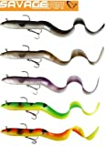 SAVAGE GEAR REAL EEL (20, 30 o. 40cm -alle Farben)