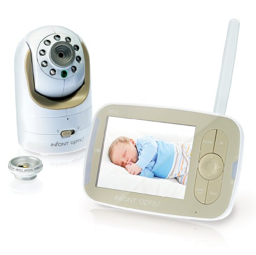 Infant Optics DXR-8 Video Baby Monitor With Interchangeable Optical Lens, White/Biege