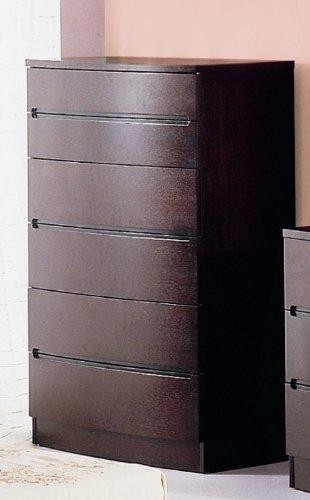 Bh Design 6-Drawer Chest, Maya Espresso front-76870