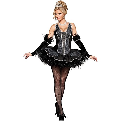 [MutterMui Black Swan Costume Adult Sexy Ballerina Ballet Halloween Fancy Dress X-Small] (Black Swan Costume Ballet)