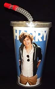 One Direction Tumbler with Straw, Harry by One Direction