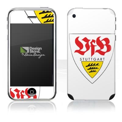 Design Skins for Apple iPhone 3G & 3Gs [without logo cut] - VFB Stuttgart Design Folie