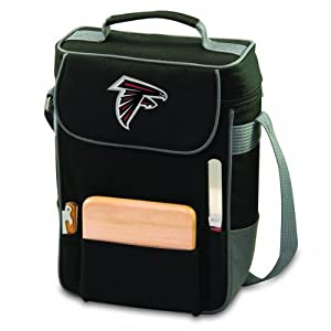 NFL Atlanta Falcons Duet Insulated 2-Bottle Wine and Cheese Tote by Picnic Time