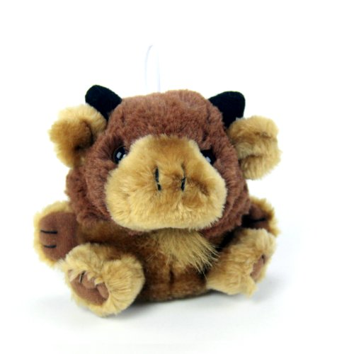 "Purr-Fection Bubba Cushy Critter Buffalo 5"" Plush"